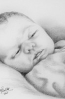 Baby in Graphite pencil